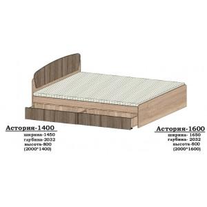 Ліжко Асторія -1600 без шухляд