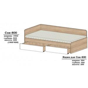 Ліжко Сон-800 без шухляд
